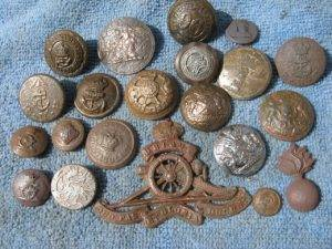 Cleaning Metal Detecting Buttons