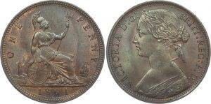 1861 uncirculated penny